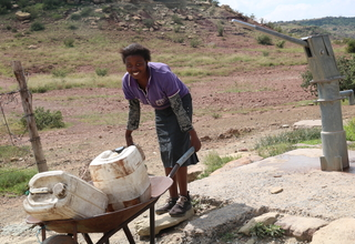 Women Walk Long distances to get water during drought